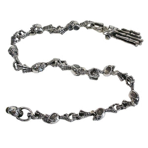 skeleton bone biker chain
