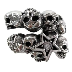 sterling sølv rock star ring