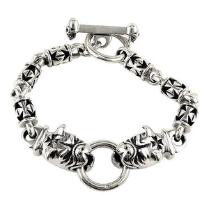 dog sterling silver pulseras