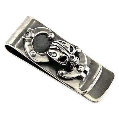 dollar sign skull money clip