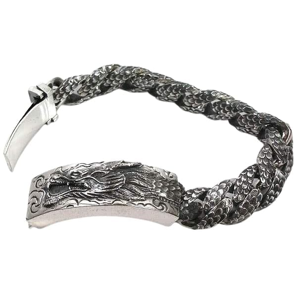 heavy sterling silver men's id bracelet