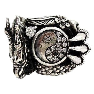 Yin Yang Dragon Ring