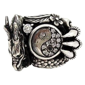 Bague Dragon Yin Yang