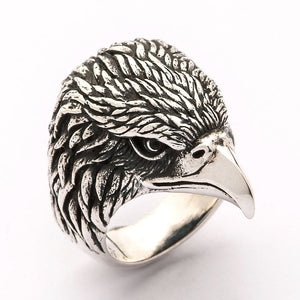harley eagle zilveren ring