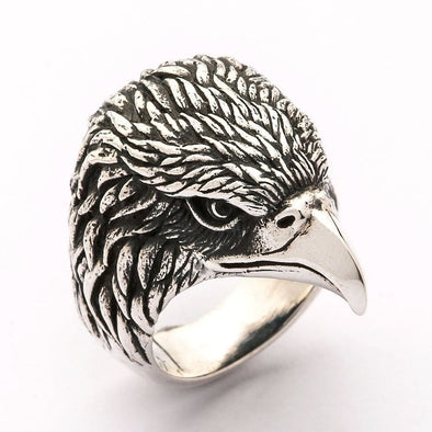 Eagle Head Biker Ring