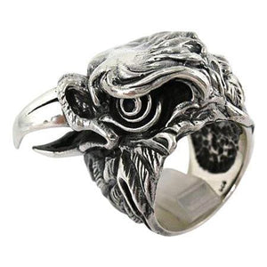 eagle sterling silver ring