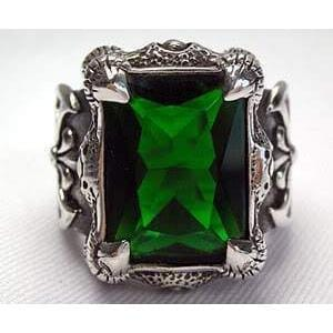 Emerald Dragon Claw Ring