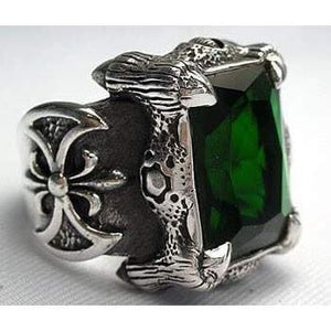 heavy silver claw ring