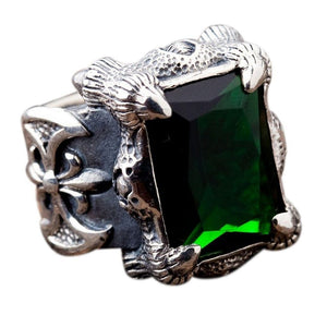 Cincin Emerald Dragon Claw