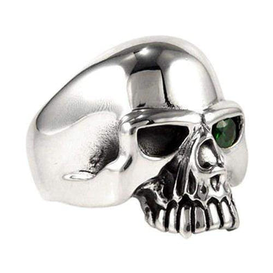 Emerald Skull Mens Ring