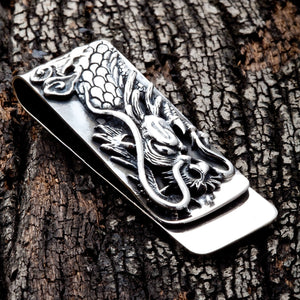 sterling silver dragon money clip