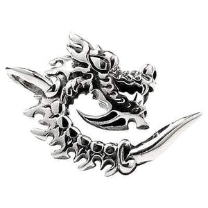 blade flaming dragon pendant
