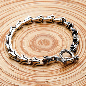 Bracciale floreale in argento sterling 925