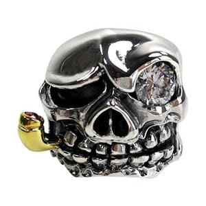 mafia diamond eye skull biker ring