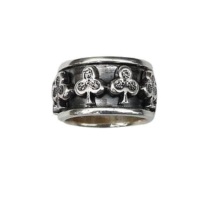 anello di filatura in argento sterling club