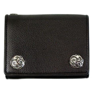 leather black biker wallet