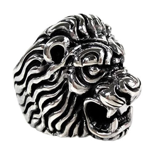 925 sterling silver lion head ring