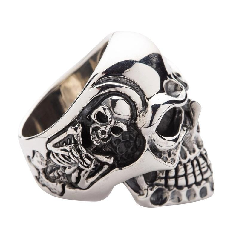 Gigantic Skull Biker Ring