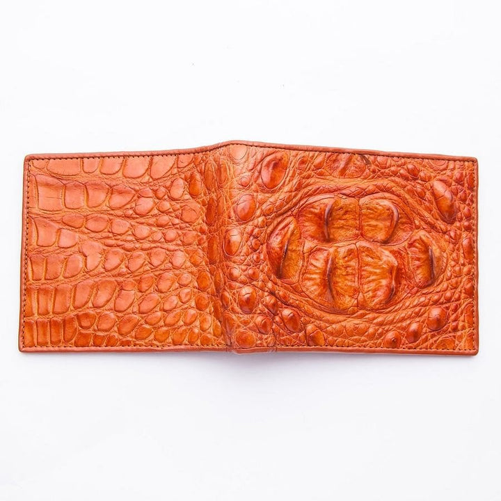tan genuine crocodile skin wallet