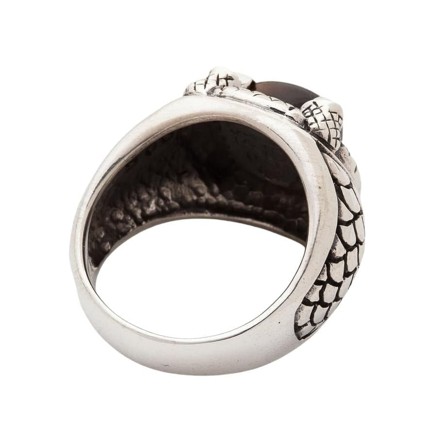 Gothic Claw Tiger Eyes Mens Ring