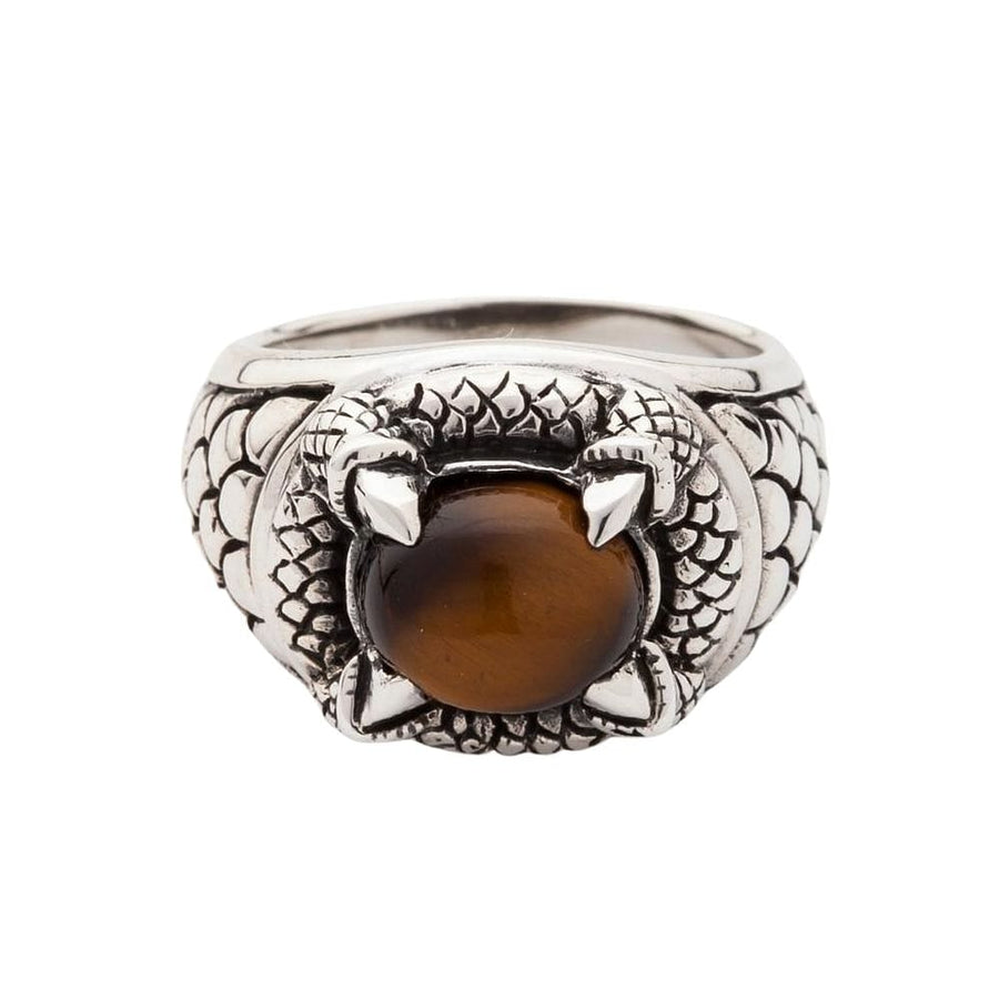 claw tiger eye ring