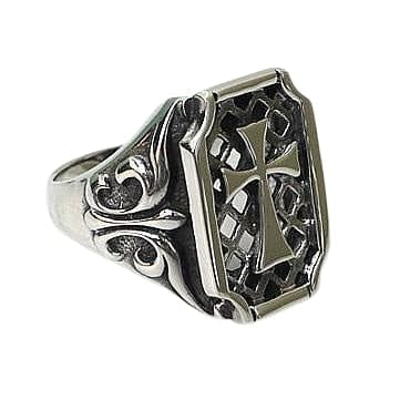 cross 925 silver ring