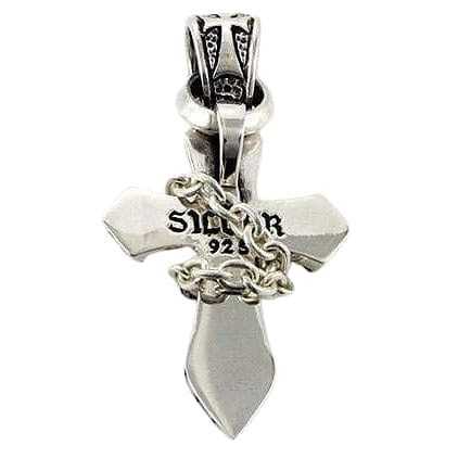 Gothic cross silver pendant