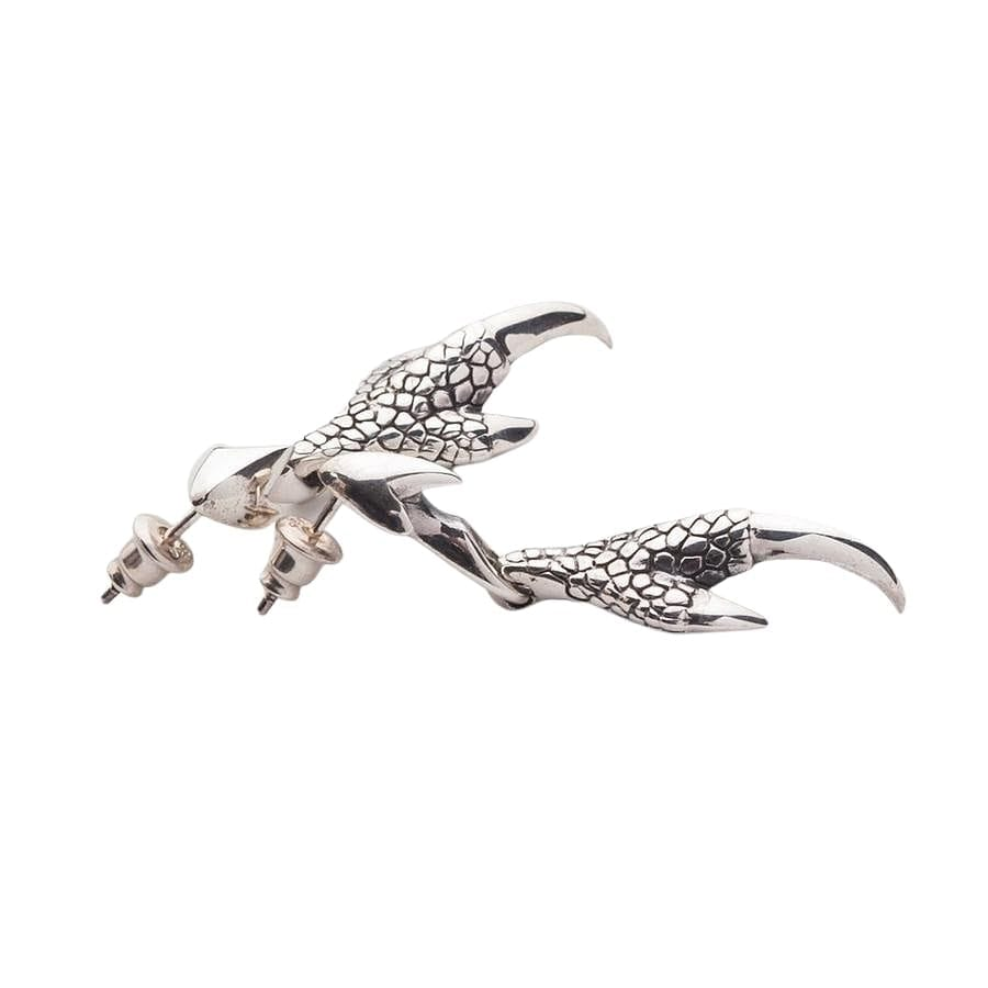 Sterling Silver Gothic Dragon Claw Earrings