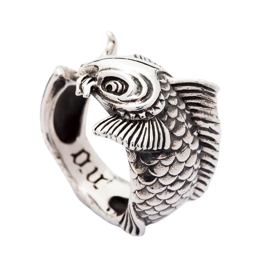 Japanese Carp Fish Adjustable Ring