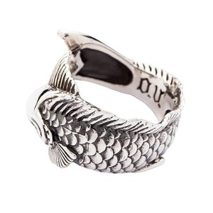 Womens Gothic Japanese Koi Silver Rings