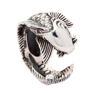 925 sterling fish ring