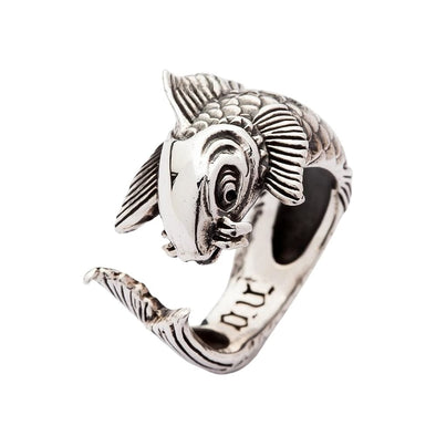 Gothic Japanese Koi Silver Rings