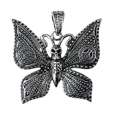 Butterfly silver goth pendant