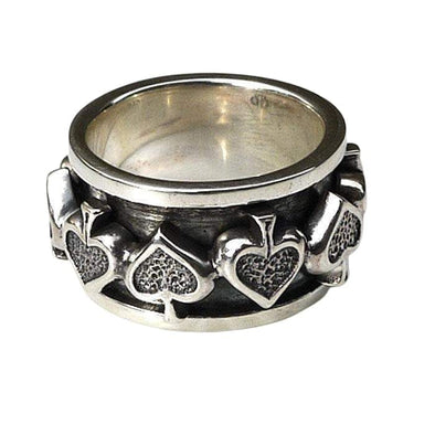 Gothic Spade Spin Ring