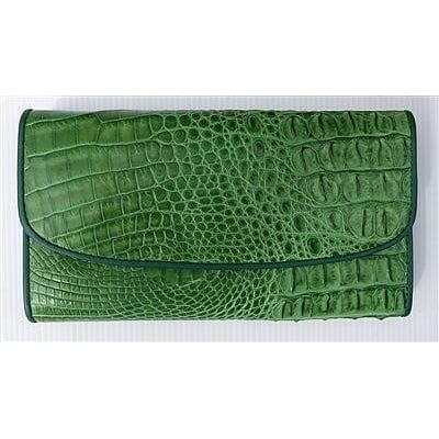 berdeng trifold crocodile skin ladies wallet