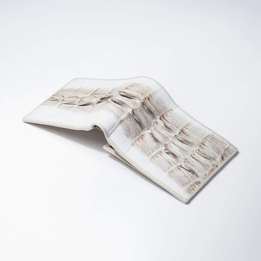 Grey Large Tail Crocodile Wallets