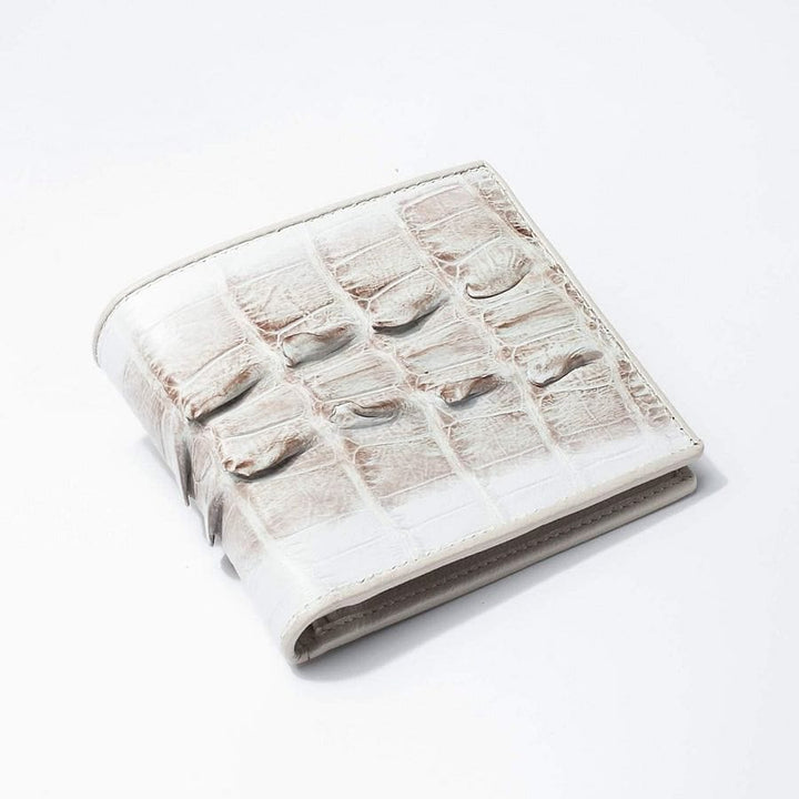 grey crocodile twotone tail skin wallet