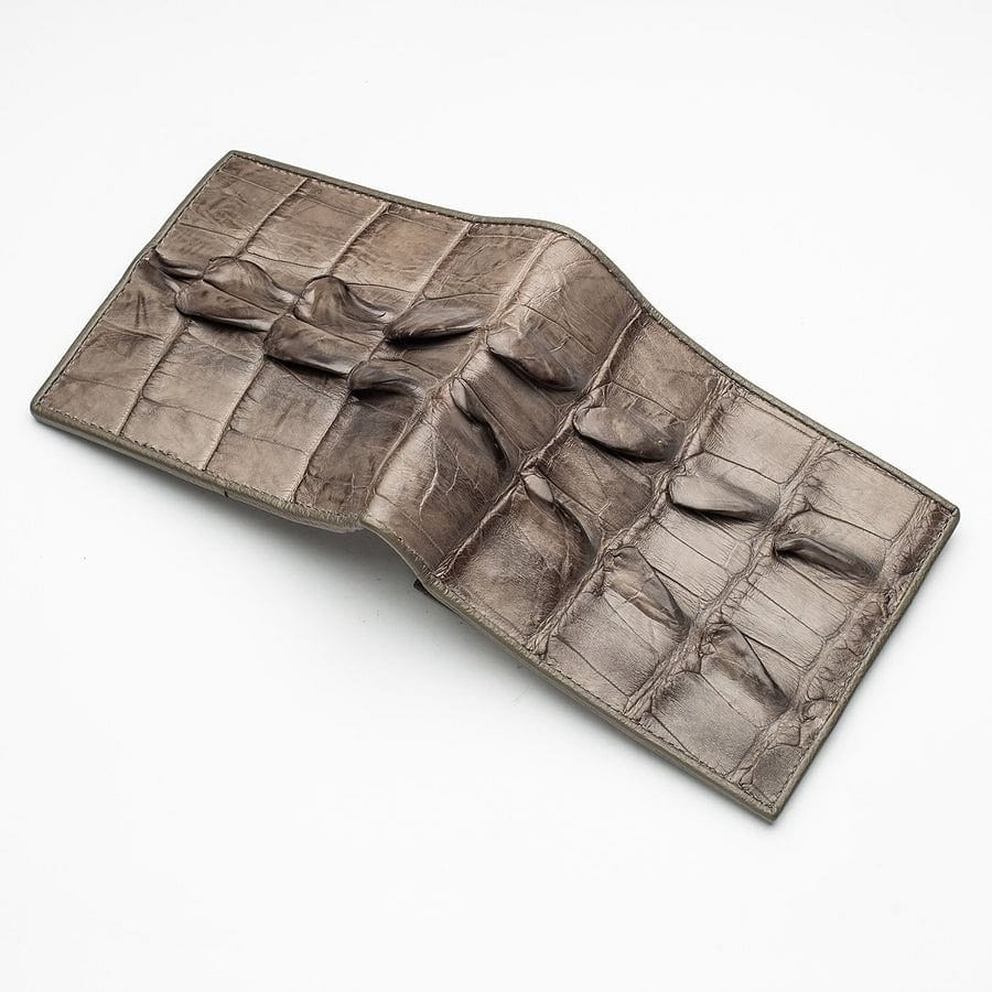 real grey crocodile wallet