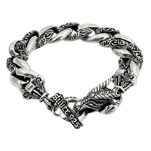 sterling silver griffin men's bracelet
