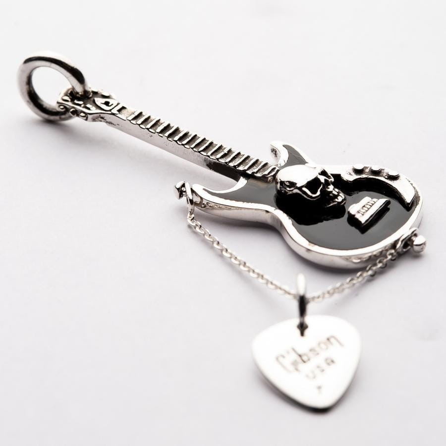 Guitar and Pick Rocker Pendant