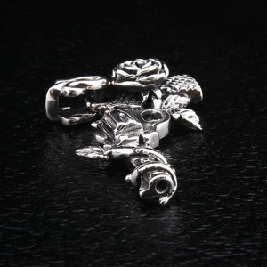 flower rose gun pendant