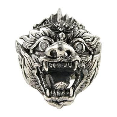 Hanuman Tattoo Silver Ring