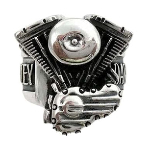 Bijoux Biker Harley Engine Ring