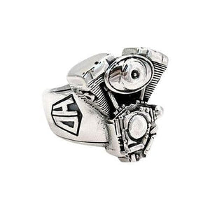 sterling silver motorcycle engine harley ring