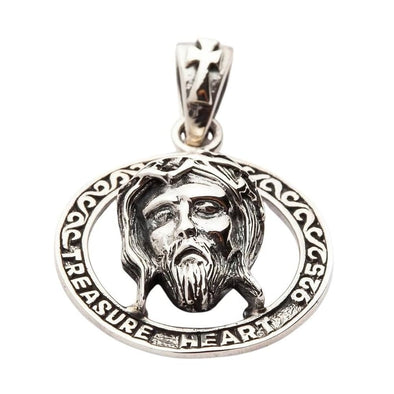 Holy Jesus Silver Pendant