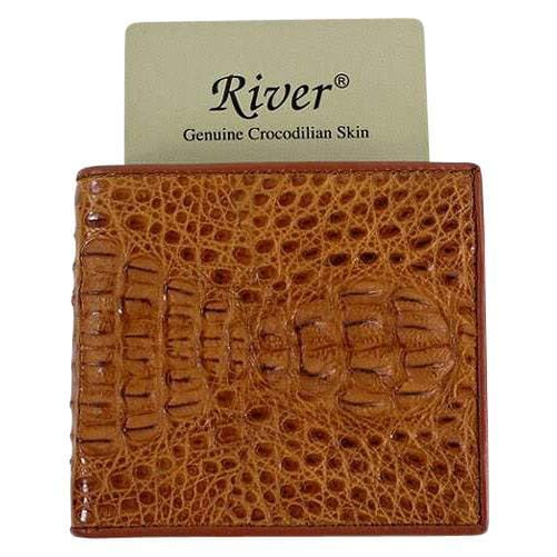 authentic river crocodile hornback wallet