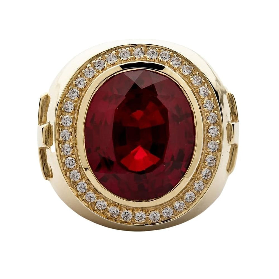 huge ruby bishop ring