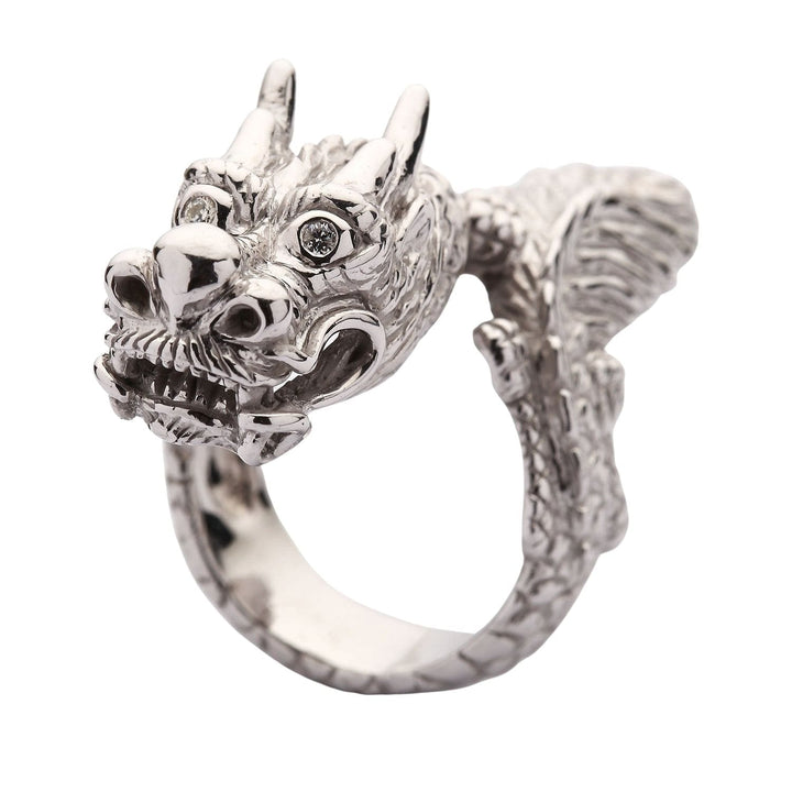 huge sterling silver dragon ring