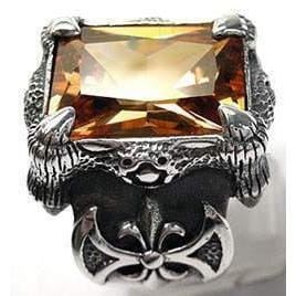 champagne dragon claw ring
