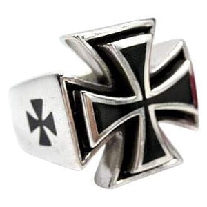 jern cross cross biker ring
